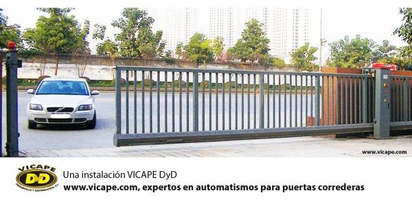 instalación de automatismos motores para puertas correderas automaticas vicape y tienda online vicape de automatismos para puertas de garaje
