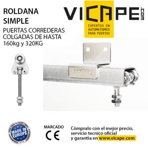 Vicape com expertos en automatismos para puertas for Guias puertas correderas colgantes